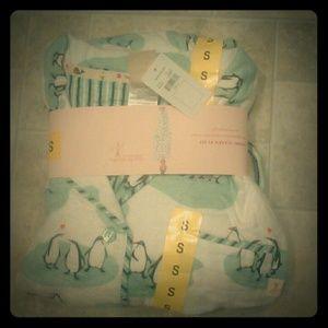 Munki Munki Penguin Flannel Pajamas Size Small